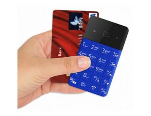 Elari CardPhone Plavi Mobilni Telefon Velicine Kreditne Kartice